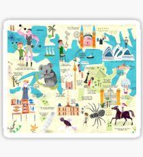 "Australian, Icons, Symbols, ""Down-Under"" Sticker"