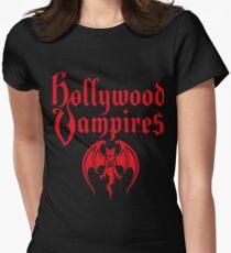 hollywood vampires tour 2018 logo red soenda Women's Fitted T-Shirt