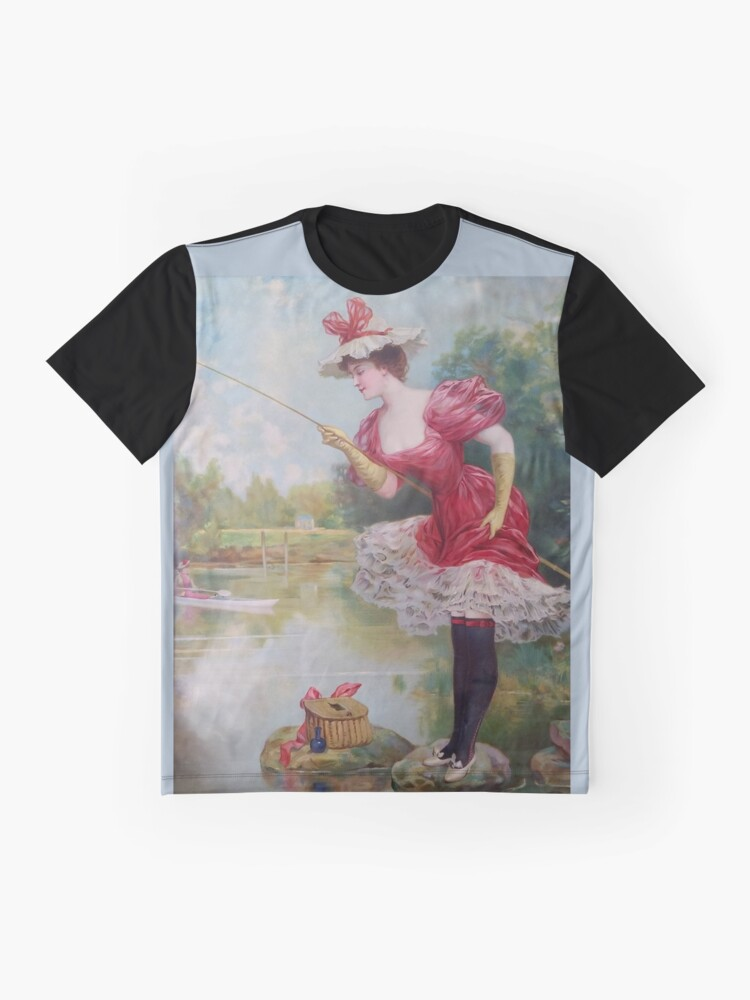 Alternate view of The Dainty Art Of Fishing Graphic T-Shirt