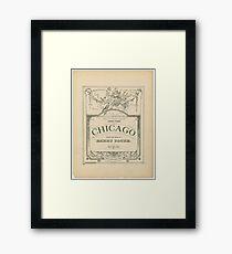 Chicago 1890 - 1890 Framed Print