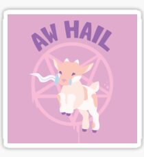 Aw Hail - Pastel Pinks Sticker