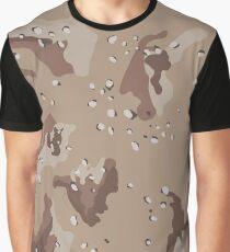 Desert Camouflage Pattern Graphic T-Shirt