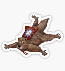 Phil Groundhog Superhero  Sticker