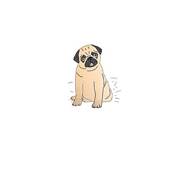 Pug Hair Don't Care Design for Pug Lovers by breidbe