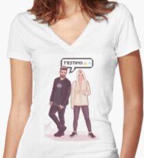 Agoney & Nerea - OT2017 Women's Fitted V-Neck T-Shirt