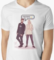 Agoney & Nerea - OT2017 Men's V-Neck T-Shirt