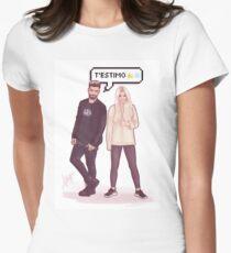 Agoney & Nerea - OT2017 Women's Fitted T-Shirt
