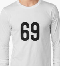 69 Number Simple - Great For Hipster Teen Long Sleeve T-Shirt