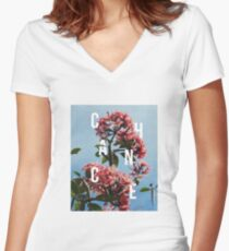 Chance the Rapper - Floral Shirt Design Women's Fitted V-Neck T-Shirt