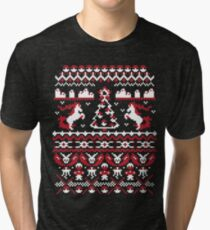 An Ugly Pokemon Christmas Tri-blend T-Shirt