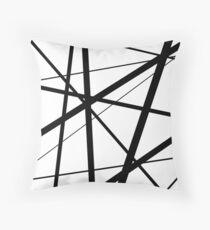 Schwarze und weiße geometrische Linien Dekokissen