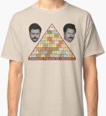Camiseta clásica Pirámide de la grandeza de Swanson