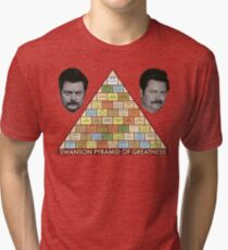 Swanson Pyramid of Greatness Tri-blend T-Shirt