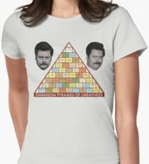 Swanson Pyramid of Greatness Women's Fitted T-Shirt