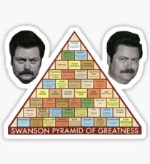 Swanson Pyramid of Greatness Sticker