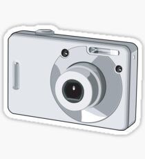 Point and Shoot Digital Camera Retro Sticker