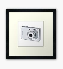 Point and Shoot Digital Camera Retro Framed Print