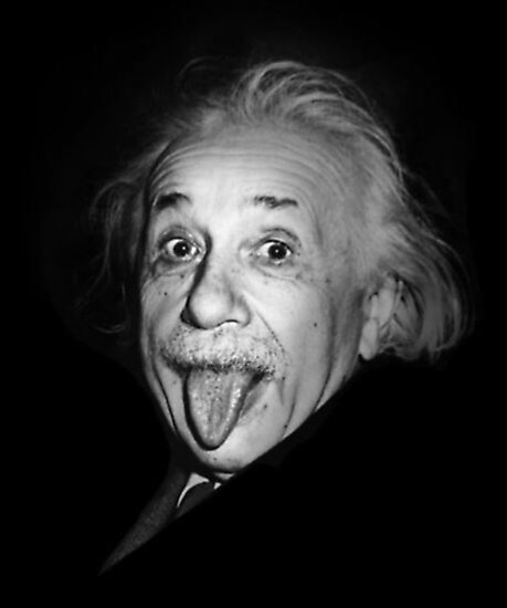 «Albert Einstein Funny Tongue» de bobbyharlem