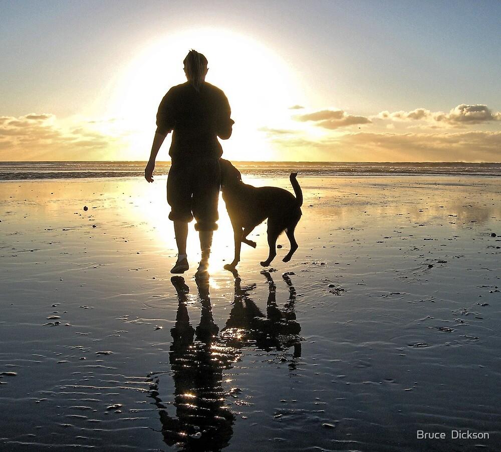 dog beach sunset by Bruce  Dickson