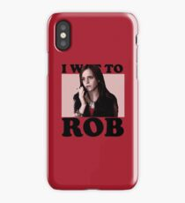 I wanna rob! iPhone Case/Skin