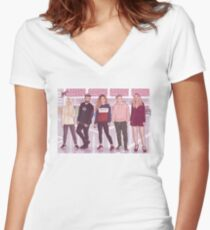 FRIENDS OT Women's Fitted V-Neck T-Shirt