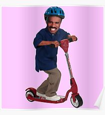 """This is Steve Harvey as a Five Year Old Riding a Scooter"" Poster"
