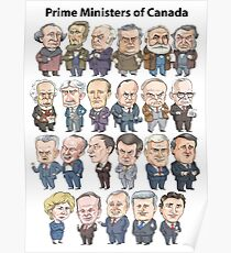 Prime Ministers of Canada Poster