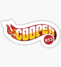 R53 Cooper Flames Sticker