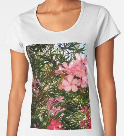 Pink and red oleanders Women's Premium T-Shirt