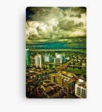 Stormy Skies, New horizons... Canvas Print