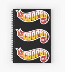 R58 Cooper Flames Spiral Notebook