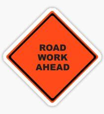Roadwork Ahead Sticker