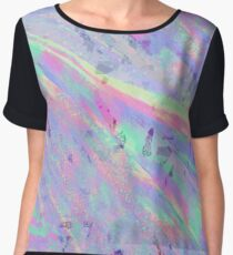 Purple Pastel Rainbow Chiffon Top