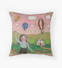 Balloon Races Throw Pillow
