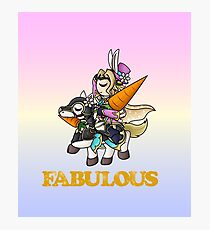 Fabulous Bunny Xander Photographic Print