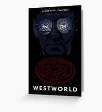 Westworld Show Poster Greeting Card