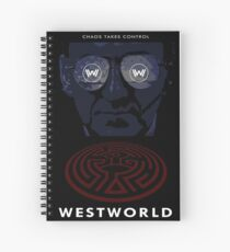 Westworld Show Poster Spiral Notebook
