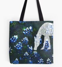 Horsing around blue bonnets Tote Bag