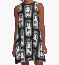 Angel Emanation blagraywhite A-Line Dress