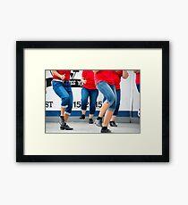 stomping legs Framed Print