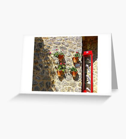 Geraniums And Necklaces Greeting Card