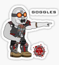 Lulz Of War: Goggles Sticker