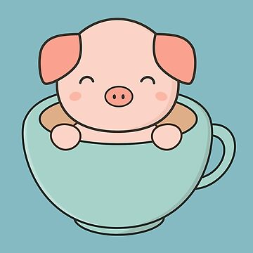 Kawaii Cute Pig  by happinessinatee