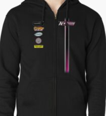 Nate Dean Racing Pit Shirt Zipped Hoodie