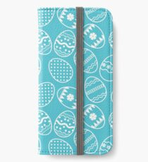 Blue and white Easter eggs iPhone Wallet/Case/Skin