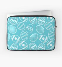 Blue and white Easter eggs Laptop Sleeve