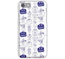 Community Halloween repeat pattern. iPhone Case/Skin