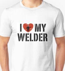 I love my Welder Shirt, Sticker, Cases, Skins, Mug, Poster Unisex T-Shirt