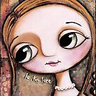 The blond girl, with big eyes by margherita arrighi