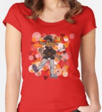 }:) Women's Fitted Scoop T-Shirt